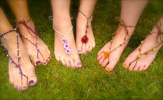 Barefoots can be worn with or without shoes, as an extension of ankle jewellery.
