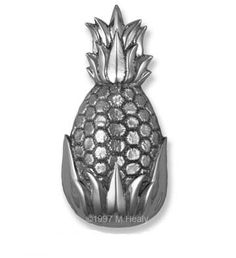 Michael Healy Pineapple Door Knocker (nickel Silver)  Doorknockersandbells.com