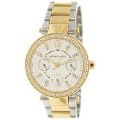 $218 Women's Michael Kors Mini Parker Chronograph Glitz Watch MK6055