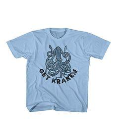 Light Blue 'Get Kraken' Tee - Toddler & Boys