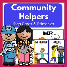 Community Helpers Yoga - Pink Oatmeal Physical Education, Physical Activities, Special Education, Physical Therapy, Community Helpers For Kids, Community Helpers Activities, Yoga Poses For Sciatica, Preschool Yoga, Core Exercises For Beginners