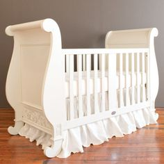 Chelsea Sleigh Crib White with Free Shipping. - Jack and Jill Boutique