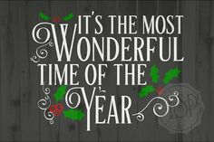 SVG File Christmas It's the most wonderful by EverSoPrettyDesigns