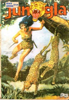 Vintage Comic - Spanish - Junlga - Leopards Queen Ii, All Gods Creatures, Leopards, Vintage Comics, Cartoon Art, Savage, Character Art, Comic Books, Wonder Woman