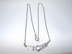 Filigranes Collier Kette Perlmutt 925 Silber. von seltener Schmuck auf DaWanda.com