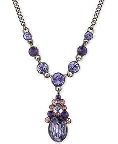 Givenchy Light Hematite-Plated Tanzanite Y Necklace