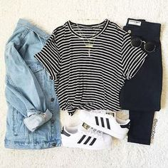 Favourite Ways to Style Casual Shoes - Love from Mim Adidas Original Superstar White How to Style Casual Shoes Adidas Superstar Outfit Ideas Mode Outfits, School Outfits, Trendy Outfits, Winter Outfits, Summer Outfits, Denim Outfits, Dress Winter, Teen Fashion, Fashion Clothes