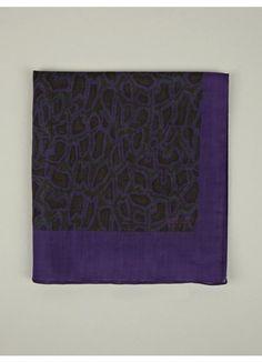 Men's Purple Snakeskin Print Cotton Scarf