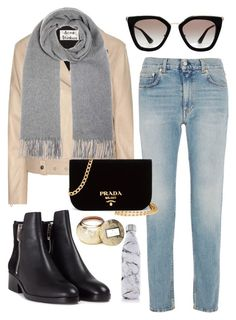 Untitled #16 by kiwiegg on Polyvore featuring Acne Studios, 3.1 Phillip Lim, Prada, S'well and Voluspa