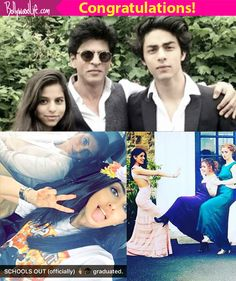 That proud moment when you finally get to see Aryan Khan and Navya Nanda GRADUATING from school view pics! Shahrukh Khan Family, Star Kids, New Gossip, Bollywood News, Bff, Photo Shoot, King, Entertaining, In This Moment