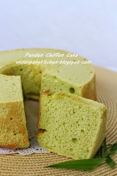 Pandan chiffon cake is very common and easy available at any bakery shop. However most of them are using artificial flavouring. With hom. Pandan Chiffon Cake, Asian Recipes, Ethnic Recipes, Sponge Cake, Cornbread, Cake Recipes, Bakery, Easy, Kitchen
