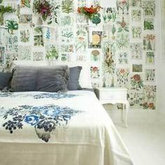 patchwork walls - http://www.apartmenttherapy.com/patchwork-walls-creating-wallp-92003