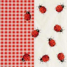 Serviette en papier Animaux - Ladybugs -  1 pcs
