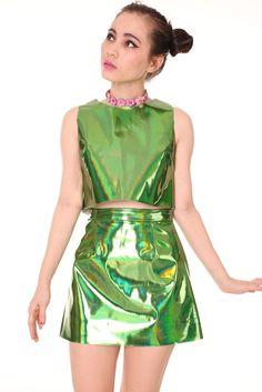 Green Holographic Motel Set