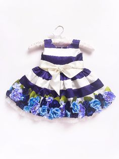 Little Pixie Ink Blue Floral Kids Party Dress Best Party Dresses, Party Dress Outfits, Blue Party Dress, Girl Outfits, Kids Clothes Sale, Designer Kids Clothes, Baby Birthday Dress, Birthday Dresses, Kids Wear Online