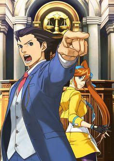 Phoenix Wright: Ace Attorney Dual Destinies - Phoenix & Athena Key Art
