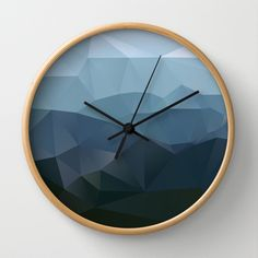 designbinge:  True at First Light Wall Clock by Three Of The Possessed | Society6