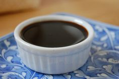 Soy Sauce Substitute - beef broth, cider vinegar(or balsamic?) molasses, ginger, black pepper, garlic, onion