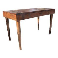 Mid-Century-Style Dark Wood Desk | Chairish
