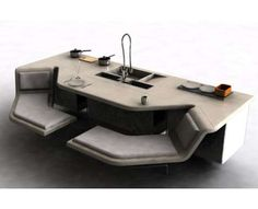 Multifunctional Kitchen Counters - The Miele 'Nexus' by Claire Regan
