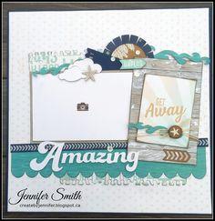 'Amazing' layout by Jennifer Smith. CTMH No Worries