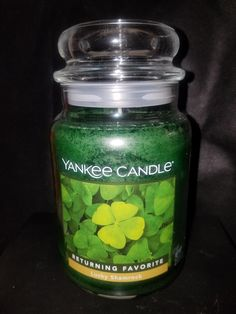(This is an affiliate pin) Yankee Candle Lucky Shamrock Large Jar Candle