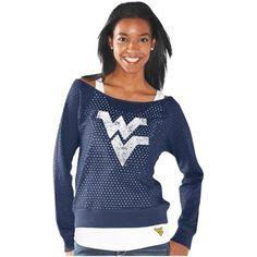 West Virginia Mountaineers Ladies Holy Sweatshirt Long Sleeve T-Shirt & Tank Top Set