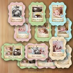 Photoshop Templates For Photographers Birth Announcement Luxe Photo Card - Babies So Soft - No 426. $19.95, via Etsy.