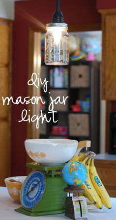 {diy} mason jar ligh