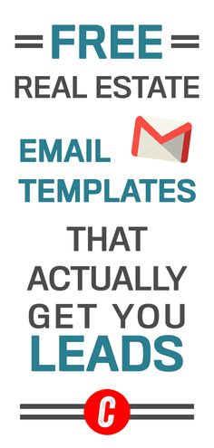 Free Real Estate Email Templates for More Leads - Sales Email - Ideas of Sales Email - Start writing effective emails that will get you more leads. Check out our FREE and easy to use real estate email templates to get started! Real Estate Career, Real Estate Leads, Real Estate Business, Selling Real Estate, Real Estate Tips, Real Estate Investing, Real Estate Marketing, Online Marketing, Marketing Websites