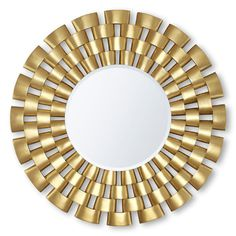 "Description A precious ""collier"" styled mirror frame, crafted by master carvers from solid hardwood and reminiscent of the extraordinary jewelry of the Ancient Egyptians."