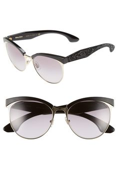 efe5674a7bc Miu Miu 56mm Pavé Cat Eye Sunglasses