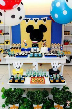 Festa do Mickey: imperdível! Ideas for a Mickey Birthday Party: you can't miss it!