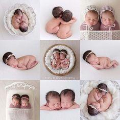 Best Indoor Garden Ideas for 2020 - Modern Newborn Twin Photos, Foto Newborn, Newborn Twins, Newborn Pictures, Baby Twins, Triplets, Newborn Session, Newborns, Twin Girls Photography