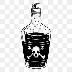 Bottle With Skull Potion Poison Hand Drawn Illustration Magic Isolated Vector Png And Vector With Transparent Background For Free Download Bottle Drawing Bottle Tattoo Symbol Drawing