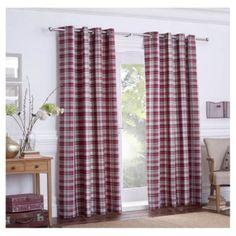 Galloway Check Eyelet Curtains W168xL229cm (66x90