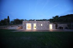 Seaside Single House, a rebuilt stone barn in Tuscany by modostudio | Small House Bliss