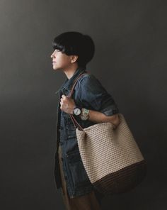 The Cottage Tote in Brown and Linen. via Etsy.