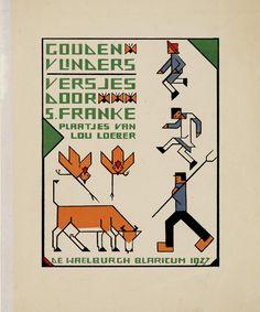 S. Franke, Gouden Vlinders (Golden Butterflies), Blaricum: De Waelburgh, 1927. Cover and illustrations by Lou Loeber.