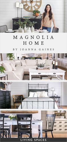 Magnolia Home by Joanna Gaines Furniture collections at Living Spaces. Joanna has designed each piece to be family-friendly and comfortably livable her authenticity shines through in every detail Casa Magnolia, Magnolia Homes, Magnolia Kitchen, Magnolia Farms, Magnolia Market, Joanna Gaines Furniture, Joanna Gaines Living Room Decor, Joanna Gaines Decor, Magnolia Joanna Gaines