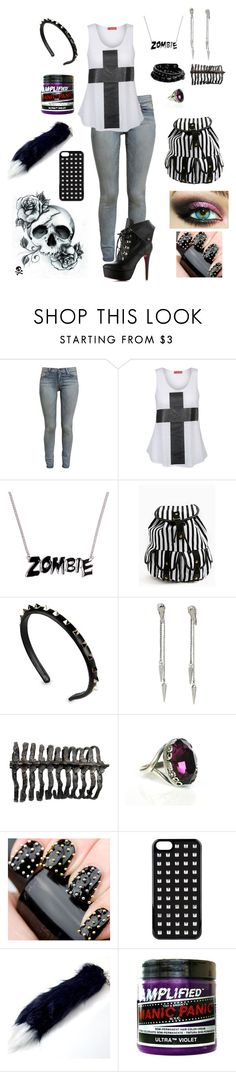 """""""CrossRoads"""" by bvbtakeover ❤ liked on Polyvore featuring Paige Denim, Influence, Valentino, After Eden, VCUBED and Manic Panic"""