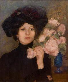 ⊰ Posing with Posies ⊱ paintings of women and flowers - Vlaho Bukovac | Baronica Rukavina, 1898