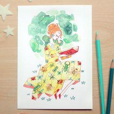 Mrs Frizzle A5 Print via Sibylline's Shop • Art