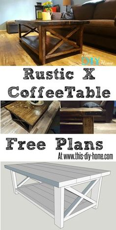 FREE PDF PLANS - www.this-diy-home.com - Rustic X Coffee Table