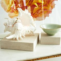 Wisteria - Accessories - Shop by Category - Home Accents -  Cream Marble Riser - Large - Set of 2 - $69.00