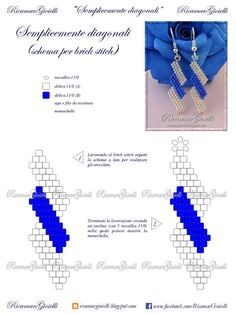 Dead link but easy to figure out from the picture. So pretty, I hope the directions are in English Bead Jewellery, Seed Bead Jewelry, Seed Bead Earrings, Diy Earrings, Beaded Earrings Patterns, Seed Bead Patterns, Beaded Bracelets, Motifs Perler, Ideas Joyería