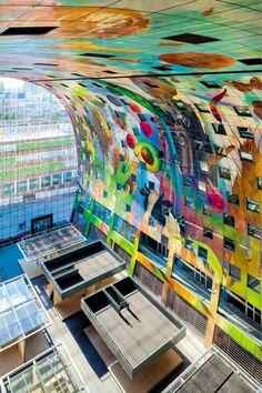 Objekt je hybridom tržnice, supermarketov, komplexu stravovania a bývania. #ASB #architecture #facade #MVRDV