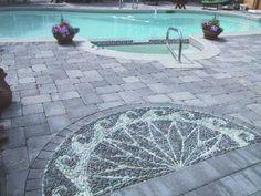 Pebble Mosaic Pool Patio