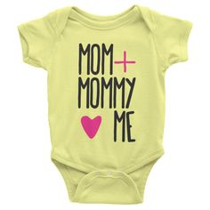 Mom + Mommy Me short sleeve onesie Lesbian Moms, Baby Couture, Baby Must Haves, Baby Kids Clothes, First Baby, Baby Fever, Future Baby, Baby Names, Onesies