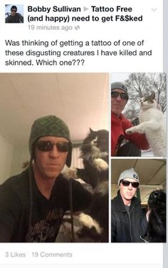 PETITION, PLEASE SIGN AND SHARE! Get Bobby Sullivan – notorious cat abuser – off Facebook for good! | YouSignAnimals.org